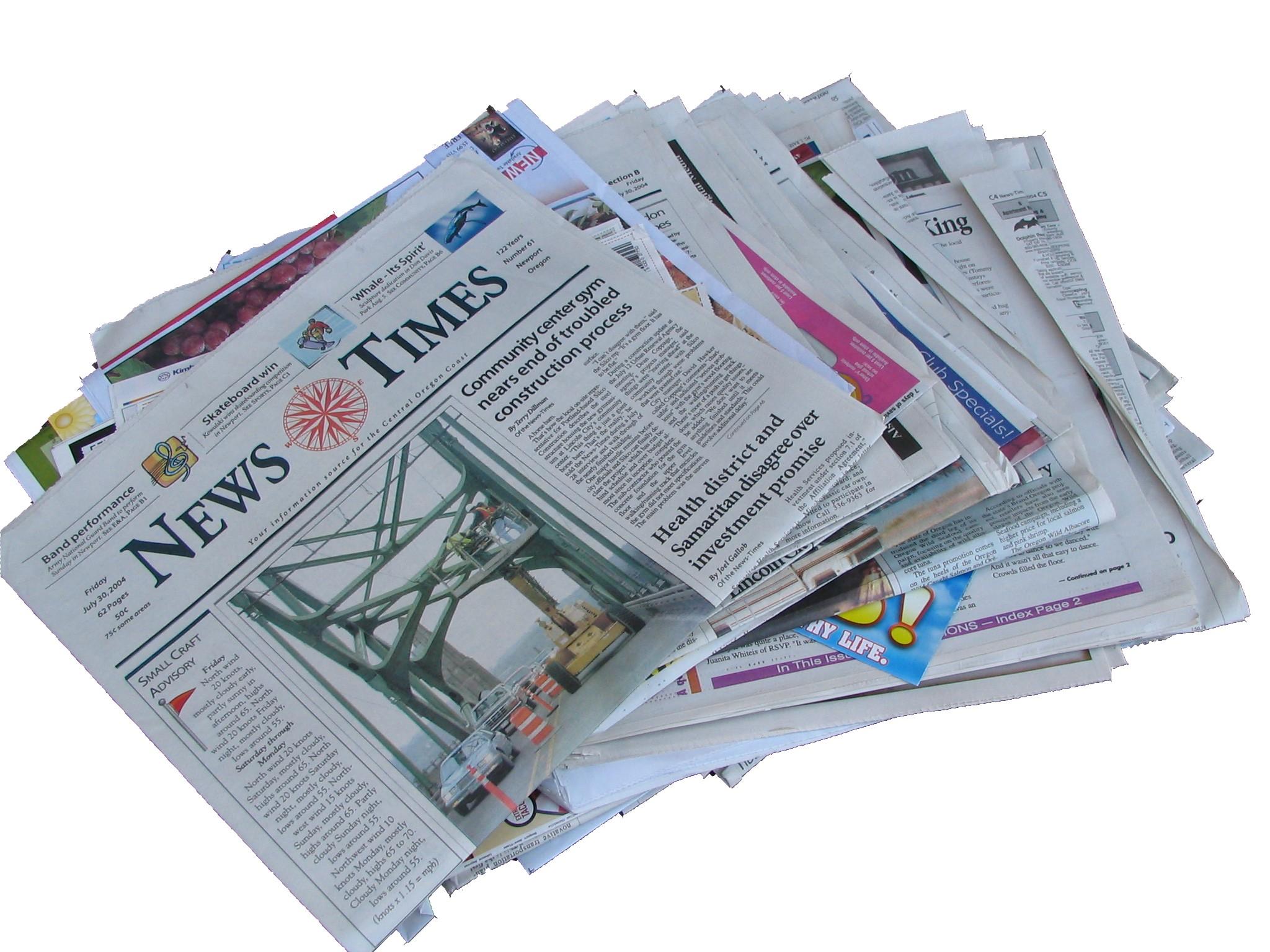 Development of newspaper magazines and books