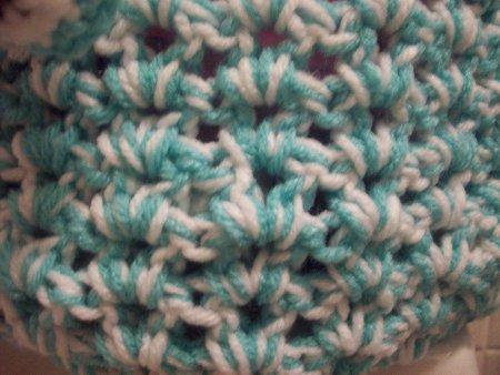 V-stitch close up
