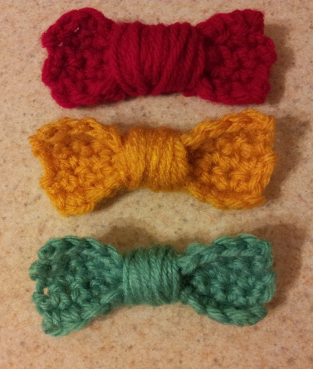 Crochet Hair Bows : Creativi-bee: Crochet Bows The Hob-bee Hive