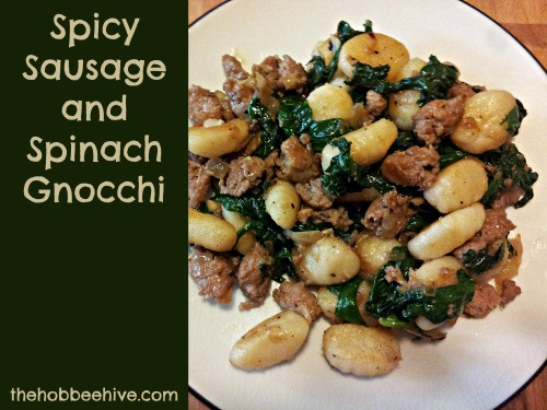 Spicy Sausage and Spinach Gnocchi