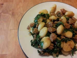 spicy sausage and spinach gnocchi recipe