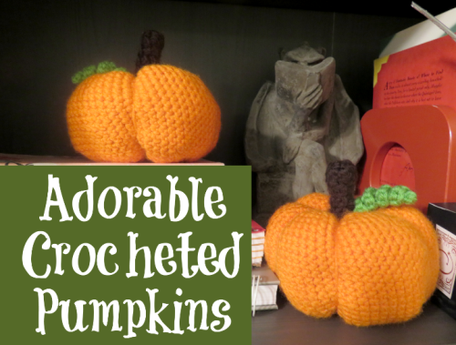 crocheted pumpkins