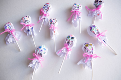 day of the dead lollipop wrappers