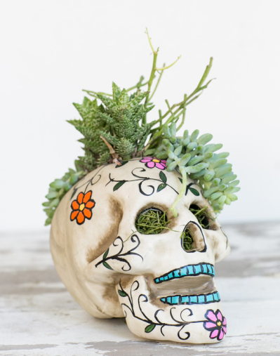diy painted skull