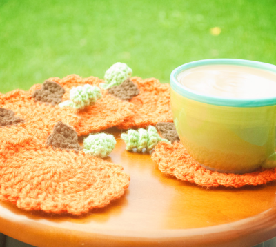 pumpkin coasters