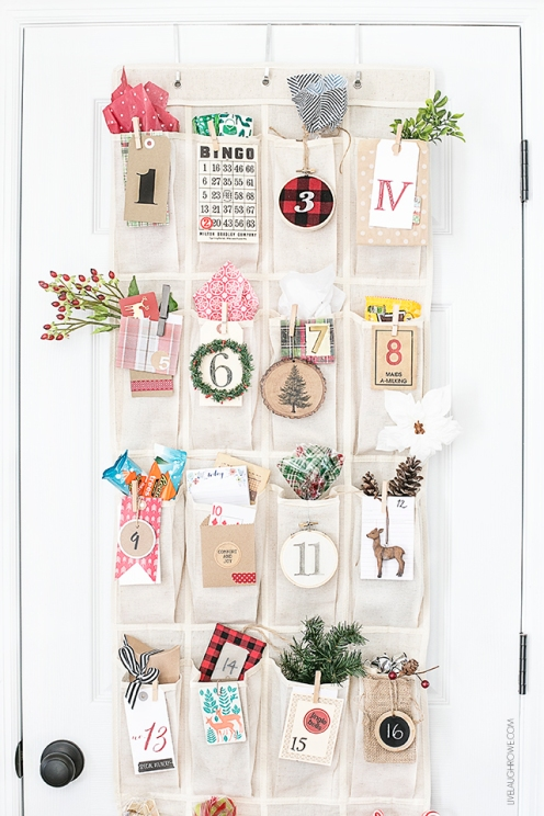 Over-the-Door Shoe Organizer Advent Calendar