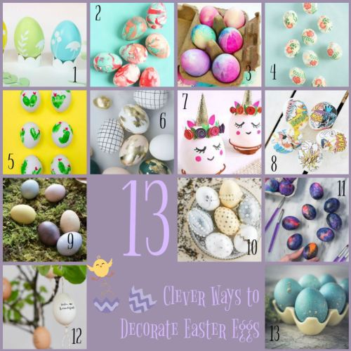 clever ways to decorate easter eggs