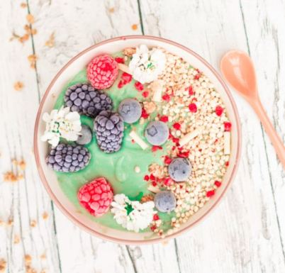 mermaid smoothy bowl