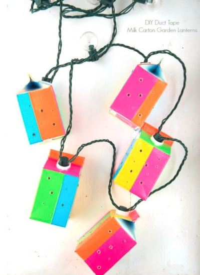 milk carton lights