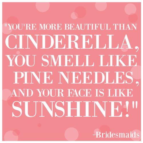 More beautiful than cinderella