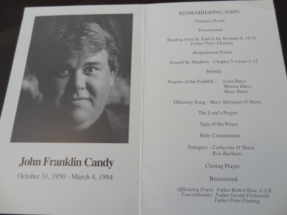 Image result for john candy funeral